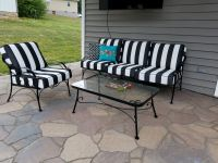 Black and White Deep Seating Cushions