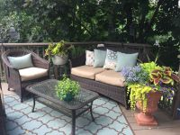 Deck with Sunbrella Rain Cushion Covers