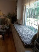 Fresh and Wild Zebra Print Window Seat Cushion