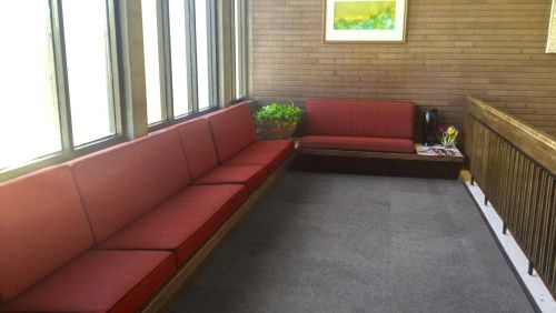 Custom Bench Cushions for Student Reception Area
