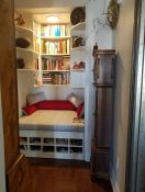 Closet Meditation Nook with Custom Bench Cushion