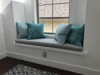 Gray Custom Window Seat Cushion