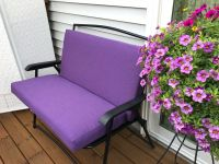 Sunbrella Volt Berry Outdoor Bench Cushions