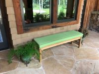 Green Sunbrella Bench Cushion