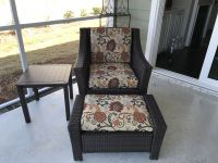 Outdoor Chair and Ottoman Cushions