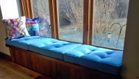 Button Tufted Window Seat Cushions