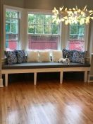 Gorgeous Custom Bay Window Cushion for Dining Room