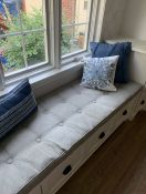Window Seat Cushion with Buttons