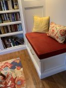 Red and Yellow Library Reading Nook Cushion