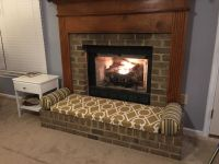 3-Person Fireplace Bench Cushion