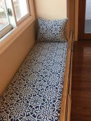 Window Seat Cushion and Pillows