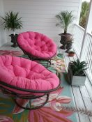 My 2nd Story Front Porch Papasan Cushions