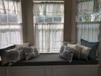 Window Seat Cushion with Pillows