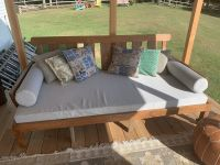 Porch Daybed Cushions and Bolster Pillows